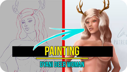 Dyani Deer Woman OC - Painting Video Timelapse