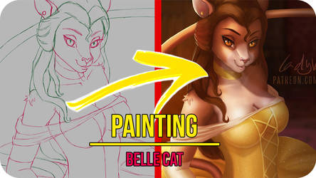 Belle Cat - Painting Video Timelapse