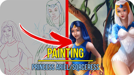Princess Ariel/Sorceress -Painting Video Timelapse