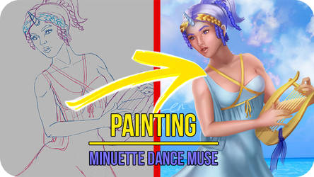 Minuette Dance Muse - Painting Video Timelapse