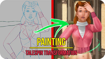Talespin Female TF - Painting Video Timelapse