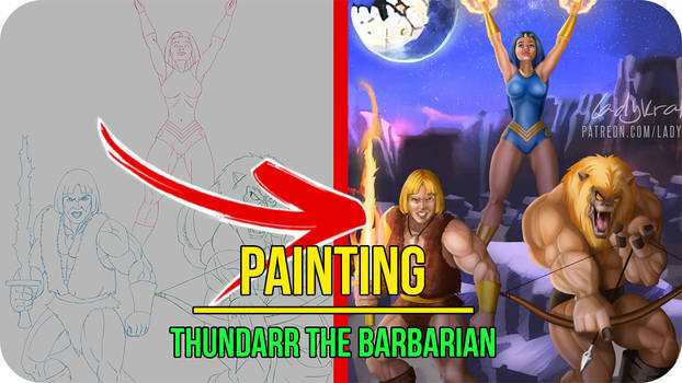 Thundarr the Barbarian - Painting Video Timelapse