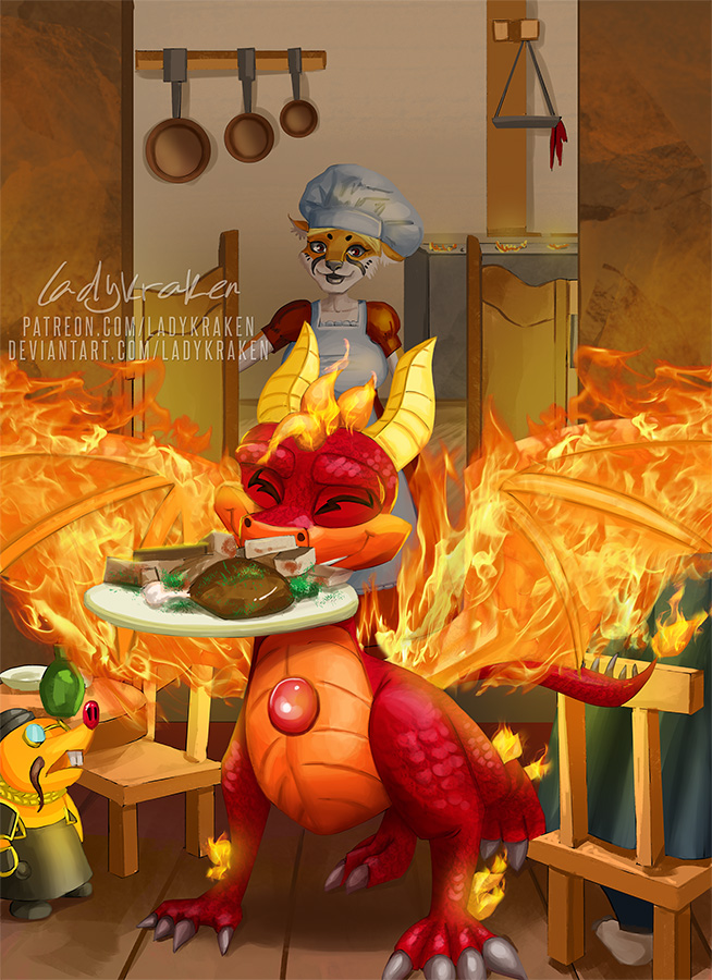 Dragon OC Spyro - Commission