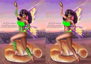 [NSFW] Esmeralda Croissant Fairy - Patreon Reward
