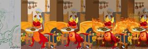 Dragon OC Spyro - Steps Digital Timelapse