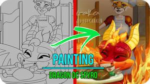 Dragon OC Spyro - Painting Video Timelapse