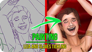 Leia and Slaves Tickling- Painting Video Timelapse