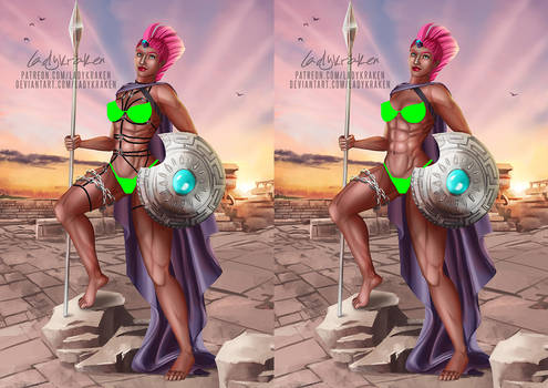 [2 ver NSFW] Tempest Shadow Ares Goddess - Patreon