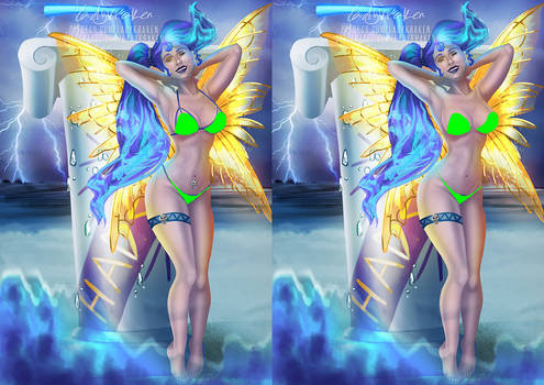 [NSFW] Megara Blue Death Fairy Madness - Patreon R