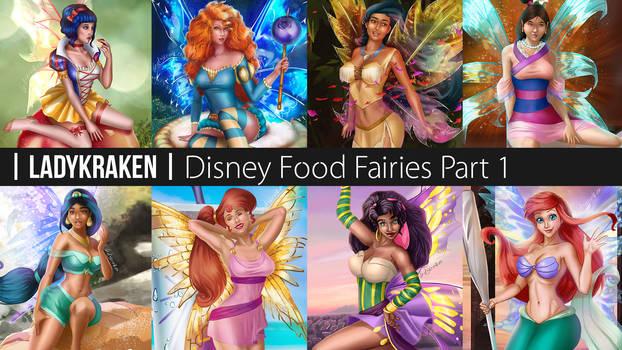 [Wallpaper] Disney Food Fairies Part 1