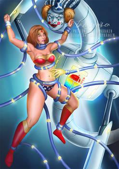 Wonder Woman Vs Tentacle Clown - Commissions OPEN