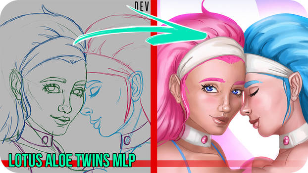 Lotus Aloe Twins MLP -Painting VideoTimelapse