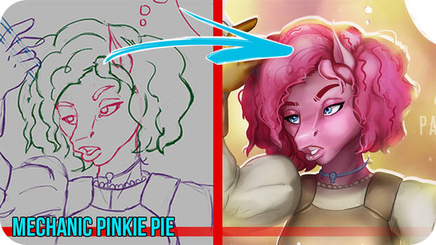 Mechanic Pinkie Pie -Painting VideoTimelapse