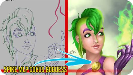 Spike MLP Coeus Goddess - Painting Video Timelapse