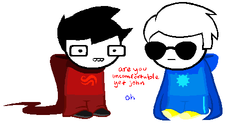 Uncomfortablestuck John and Dave by NeppyNeptune