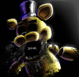 Golden Freddy - IT'S ME + SPEEDPAINT by NeppyNeptune
