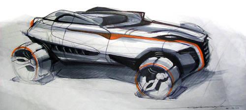 Rally Racer Sketch