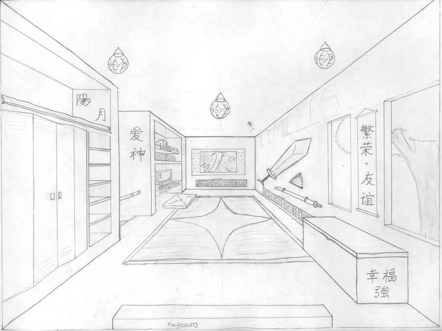 Dream Room Perspective by Isometric Dream House Drawing
