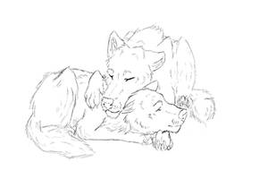 Laying here with you by Jinx135