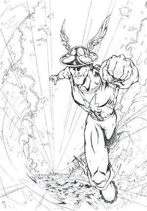 Jay Garrick Flash Drawing By Thegeekcanpaint On Deviantart
