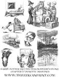 Harry Potter: Book 1 Chapter 6 Vignette Drawings