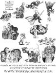 Harry Potter: Book 1 Chapter 9 Vignette Drawings