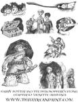 Harry Potter: Book 1 Chapter 10 Vignette Drawings