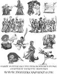 Harry Potter: Book 1 Chapter 11 Vignette Drawings