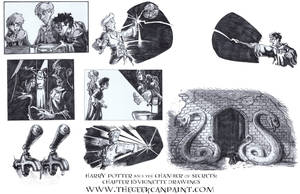 Harry Potter: Book 2 Chapter 16 Vignette Drawings