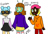 New-ish OCs | Elizabeth, Zara, and Kenny (2/3)