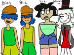 New-ish OCs | Brian, Brie, Lin, and Grimoire (3/3)