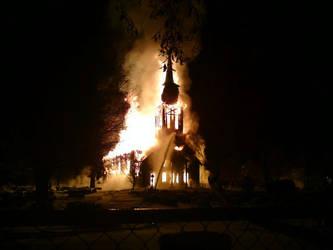 Burning Church by Inner-Alsatian