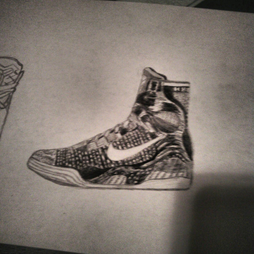 how to draw kobe shoes