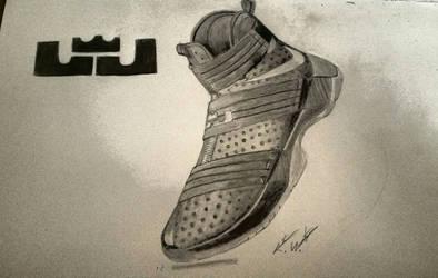 sports shoes 96730 9ee62 Bigken20 2 0 Nike Lebron Zoom Soldier 10 Drawing by Bigken20