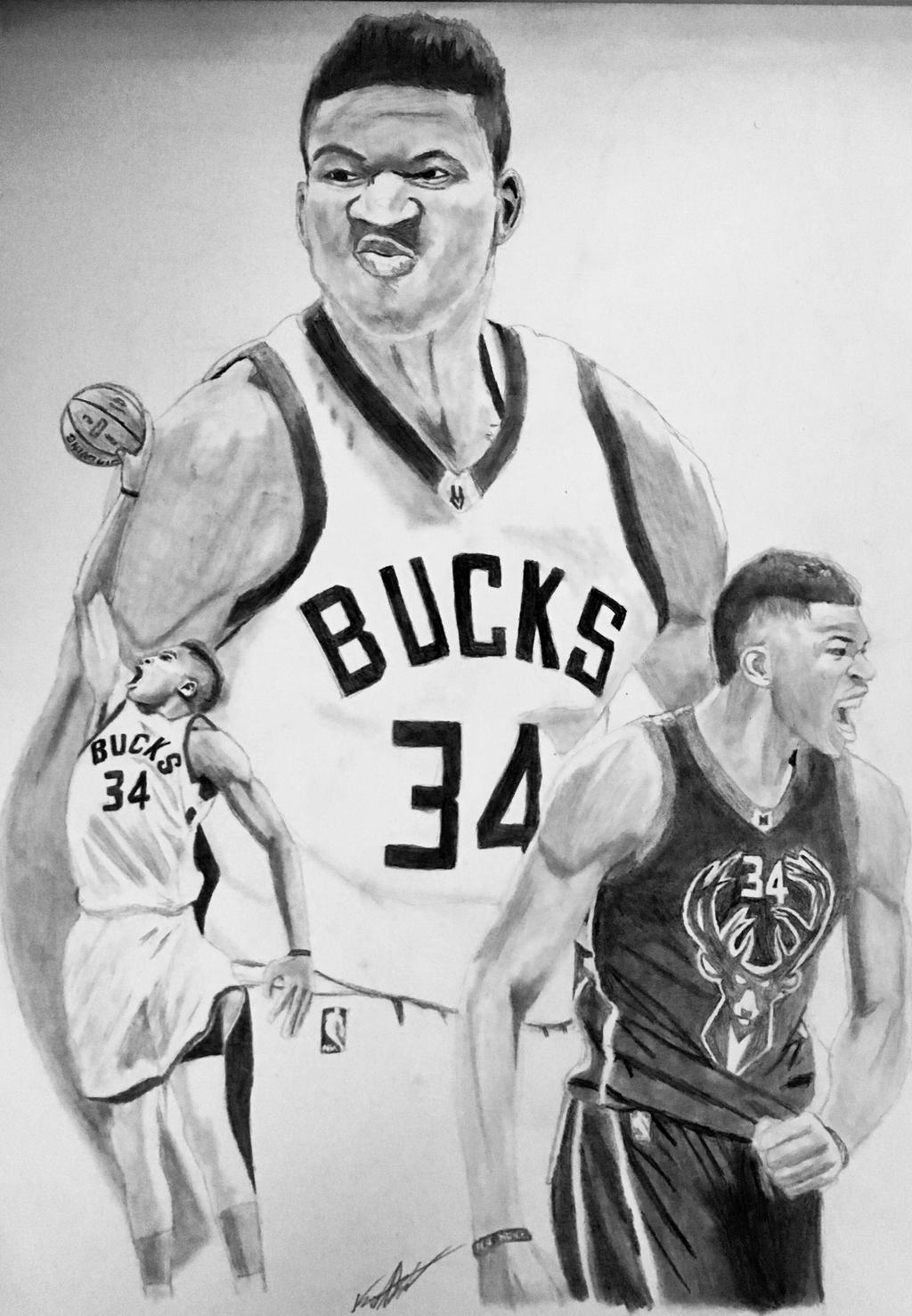 Giannis Antetokounmpo Drawing by Bigken20 on DeviantArt