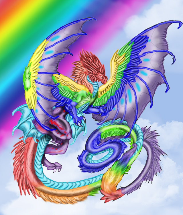 big rainbow dragon wallpaper - photo #7
