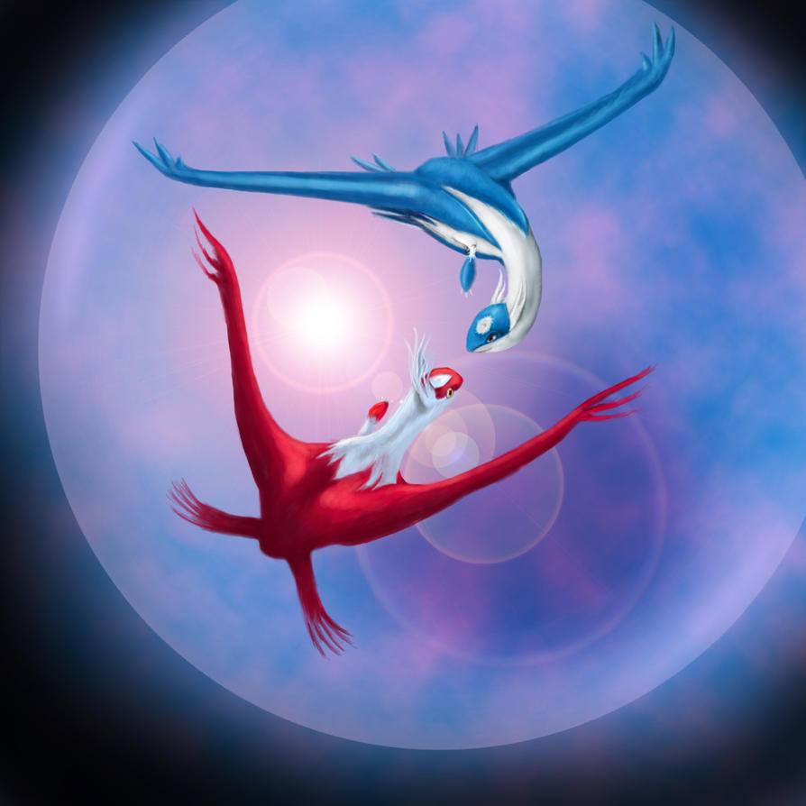 Baby Latios And Latias Latios and latias by