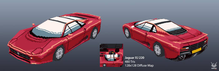 Jaguar XJ 220 by robotriot