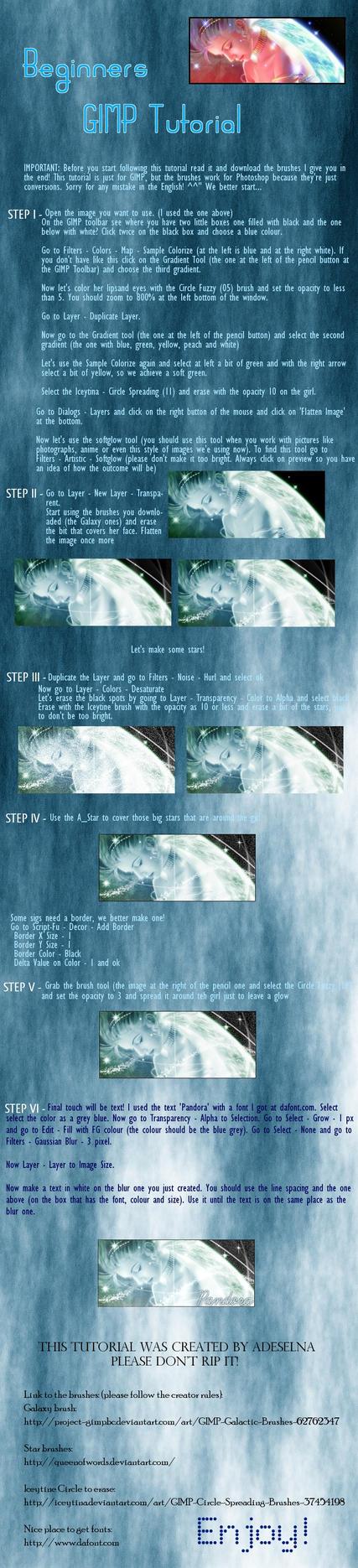 Beginners GIMP tutorial by Adeselna