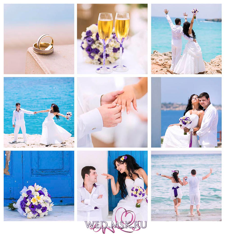 wedding collage by aleksie