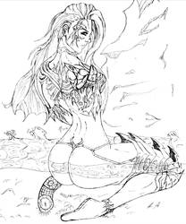 The Witchblade Beckons - sketch by MDVillarreal