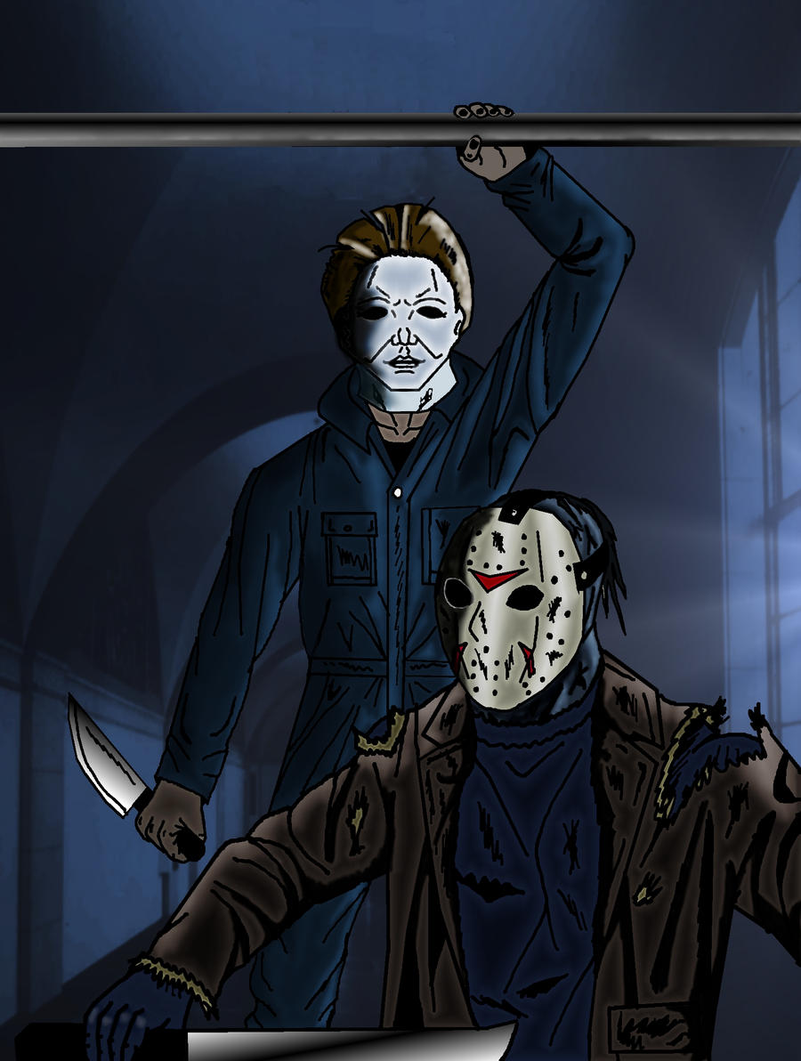 Michael Myers vs. Jason by *krimasen on deviantART