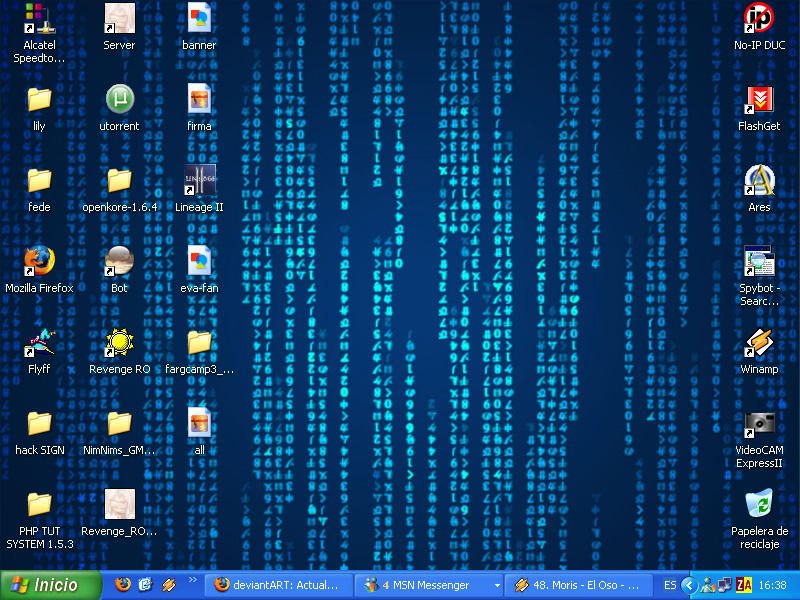 my actual desktop :D by fedekiller