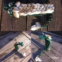 Small Green And Gold Scaled Chainmaille Dragon