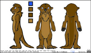 My Fursona Tagg The Otter Reference Sheet