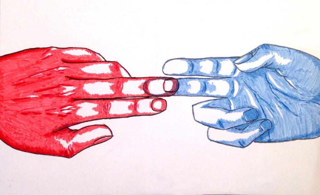 Touching hands by RiZo666