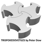 3 trispokedovetiles in 3D