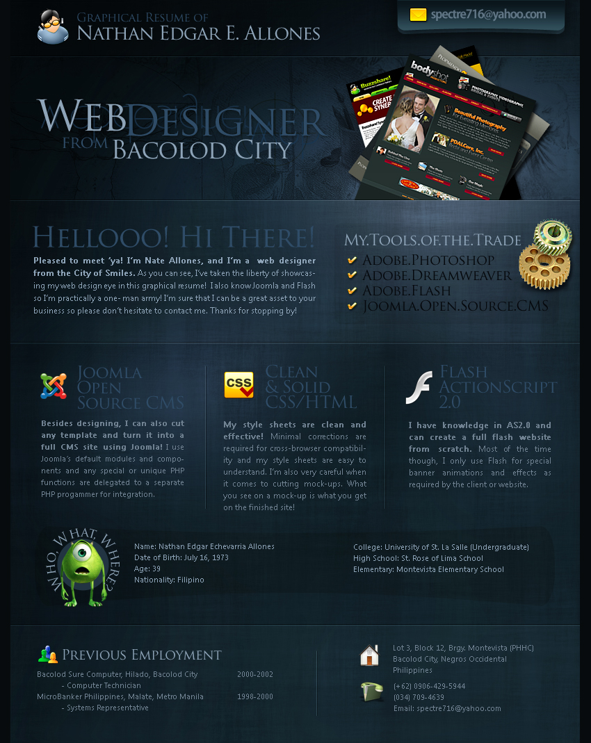 My Graphical Resume by spectre716 on DeviantArt