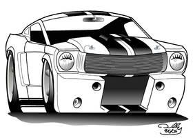 65 Shelby R model toon by DarkBlip