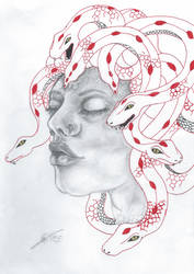 Medusa: Mythical being portrait by EsutickArt